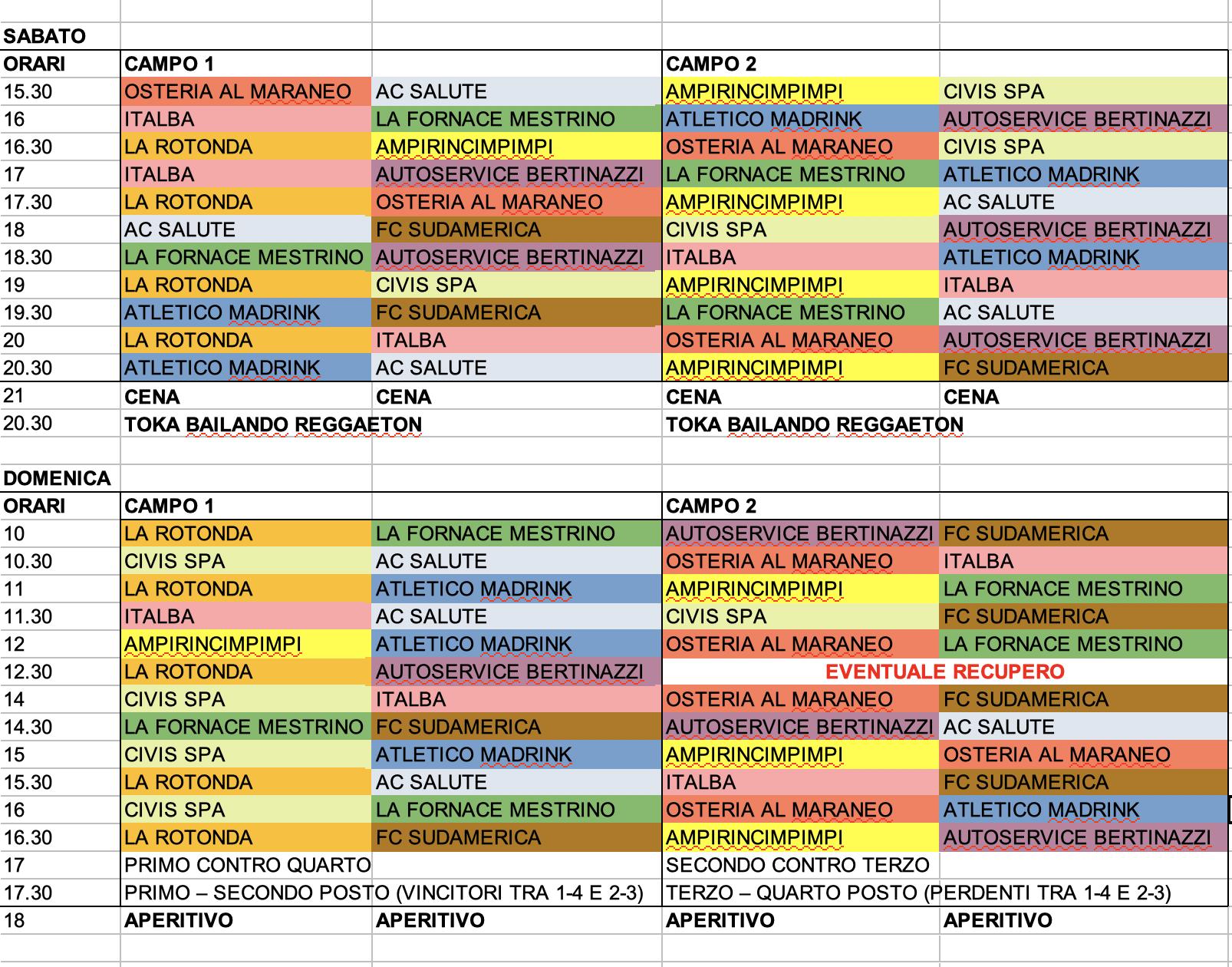 Calendario Torneo A 7 Squadre.Torneo Di 24 Ore Di Beach Volley E Calcetto A5 A Marola
