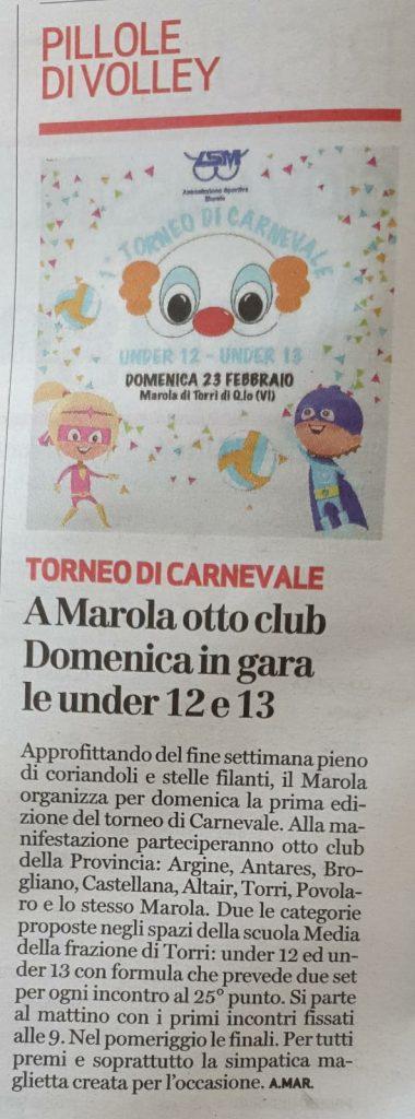 Dal giornale di Vicenza di